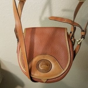 Vintage Dooney & Bourke All Weather Brown Pebbled